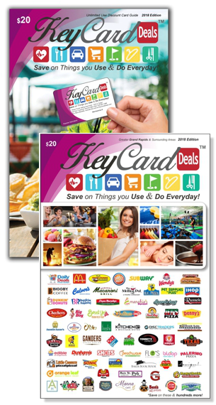 2018 KeyCard Deals Unlimited Use Card Guide & Coupon Book